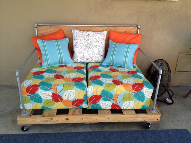 cushions pallet couch