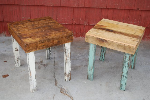 Beautiful and simple pallet side tables pallet furniture for Pallet end table