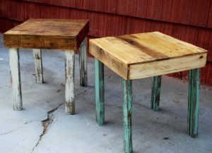 Beautiful and Simple Pallet Side Tables