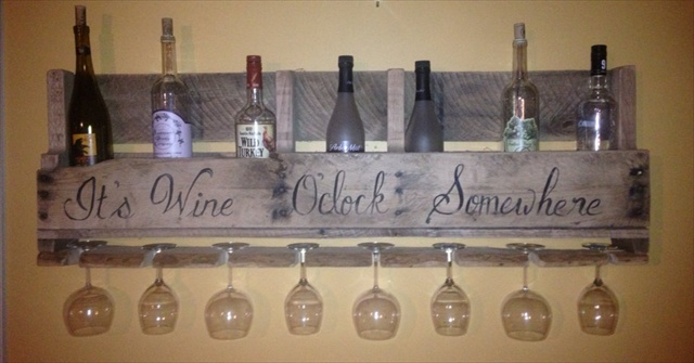 How To Make A Wood Pallet Wine Rack