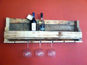 Pallet Wine Rack – Pallet Glass Holder