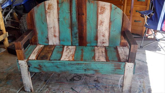 Rustic Pallet Bench