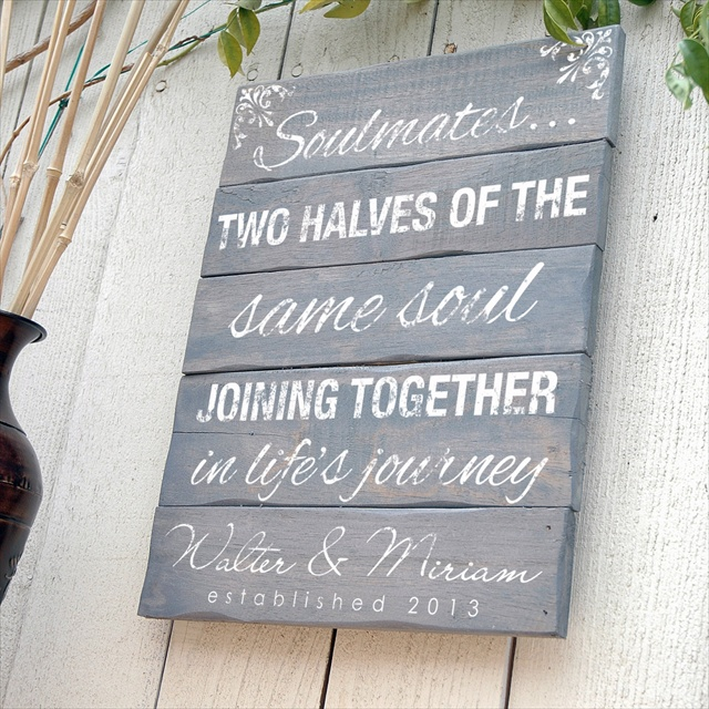 DIY Wedding pallet sign