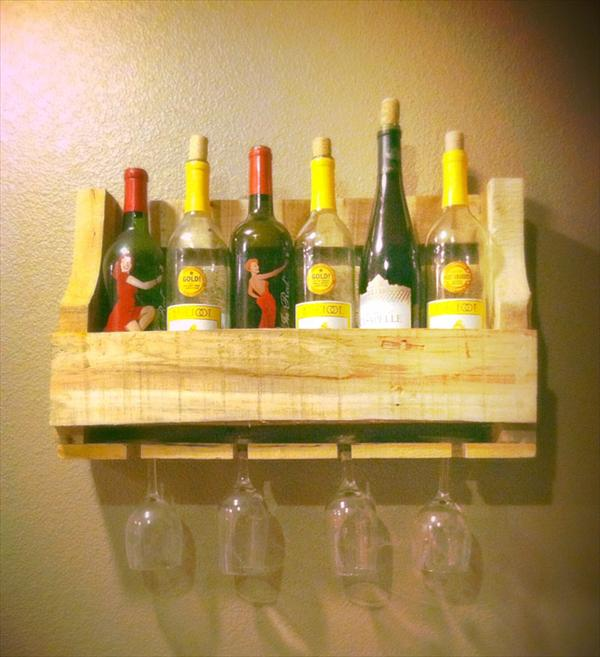 Small Wine Rack Made from Pallet