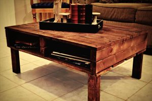 Coffee Table of Reclaimed Pallets