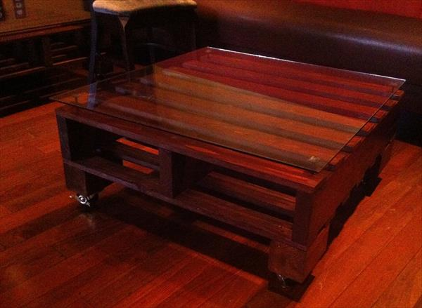Dark Stained Pallet Coffee Table