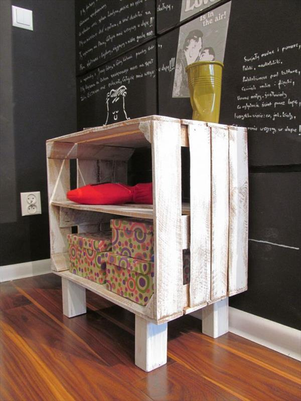 Diy Pallet Storage Racks Pallet Furniture Plans