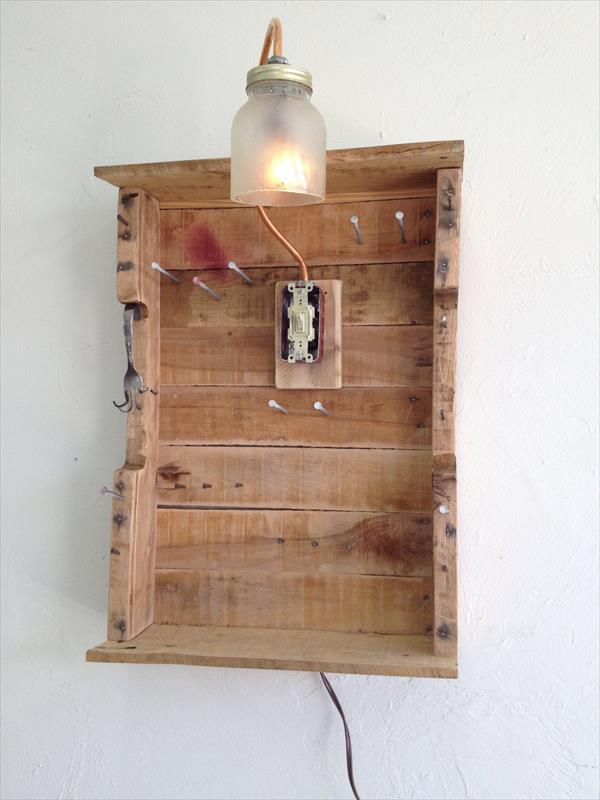 Pallet Jewelry Organizer Pallet Furniture Plans