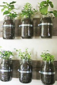 Pallet Mason Jar Storage Shelf
