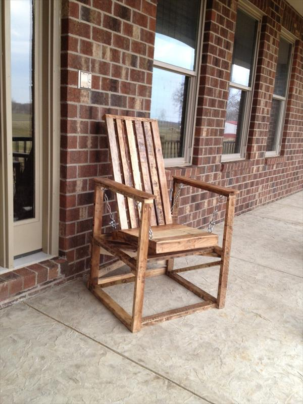 Outdoor Pallet Wood Chair