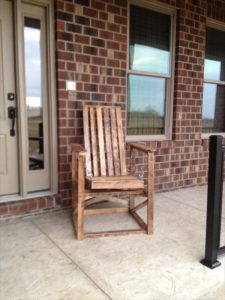 Outdoor Pallet Chair