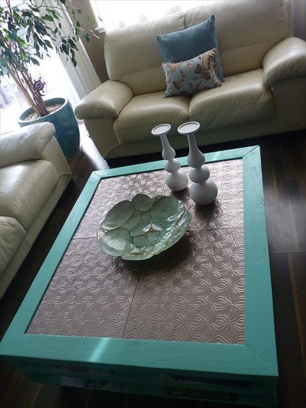 Delightful Unique Pallet Coffee Table Furniture Plans