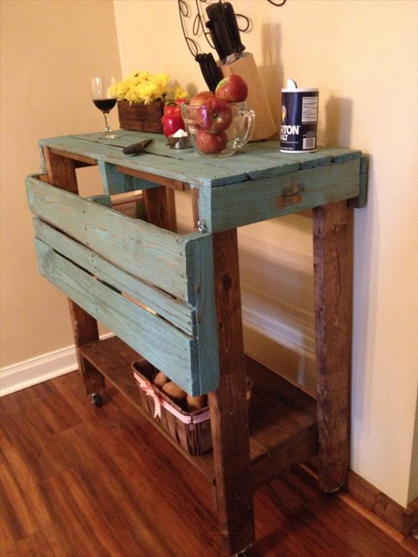 Pallet Kitchen Island Table - Pallet Kitchen Island Pallet Furniture Plans