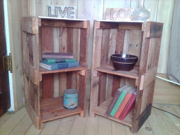 Diy pallet end table nightstands pallet furniture plans diy pallet end table nightstands solutioingenieria Choice Image