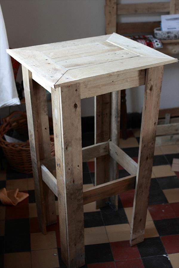 Diy pallet end table nightstands pallet furniture plans for Pallet end table