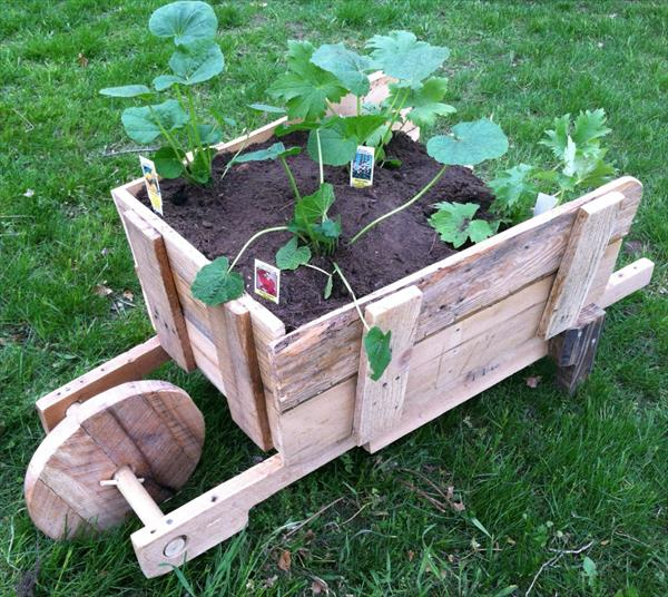 Wheel Barrel Planter