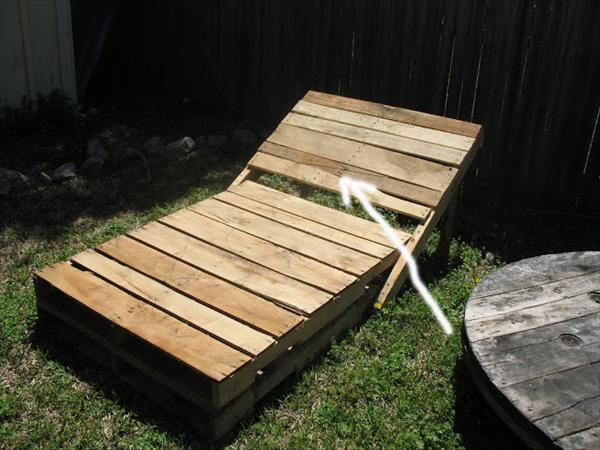 pallet wood recycled loungers