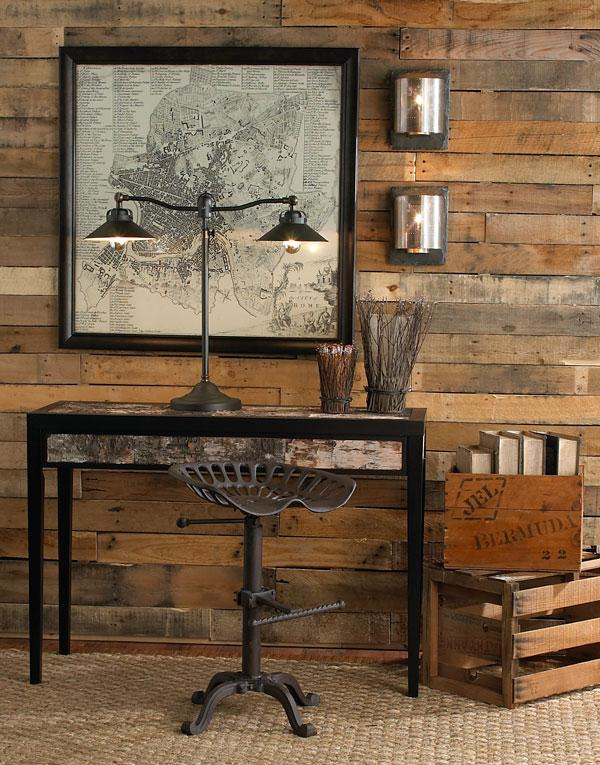 build a wall with recycled pallet