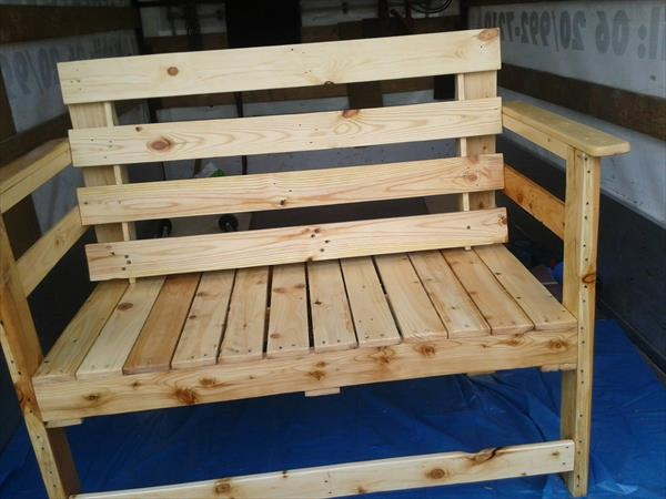 pallet bench for outdoor