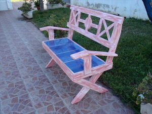 Outdoor Pallet Bench With Cushions Pallet Furniture Plans