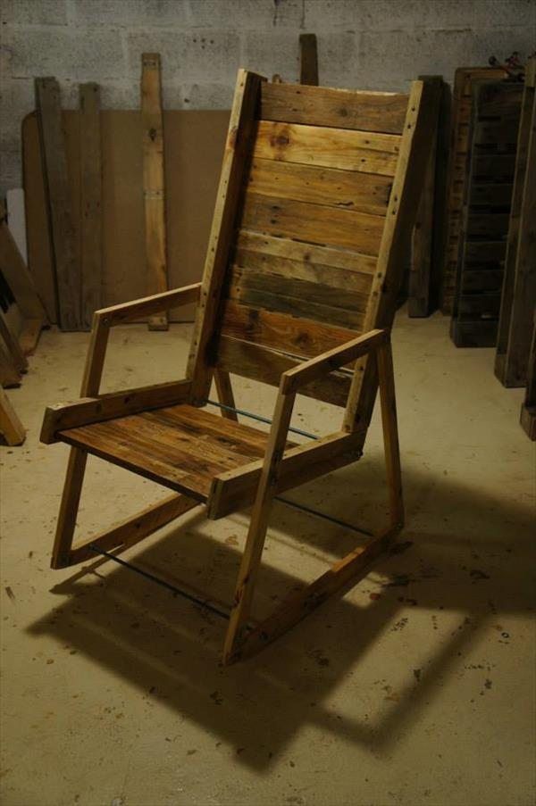 diy pallet wood rocking chair pallet furniture plans. Black Bedroom Furniture Sets. Home Design Ideas