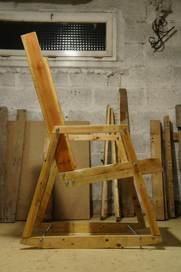 diy pallet rocking chair