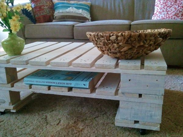 diy coffee table from pallet wood