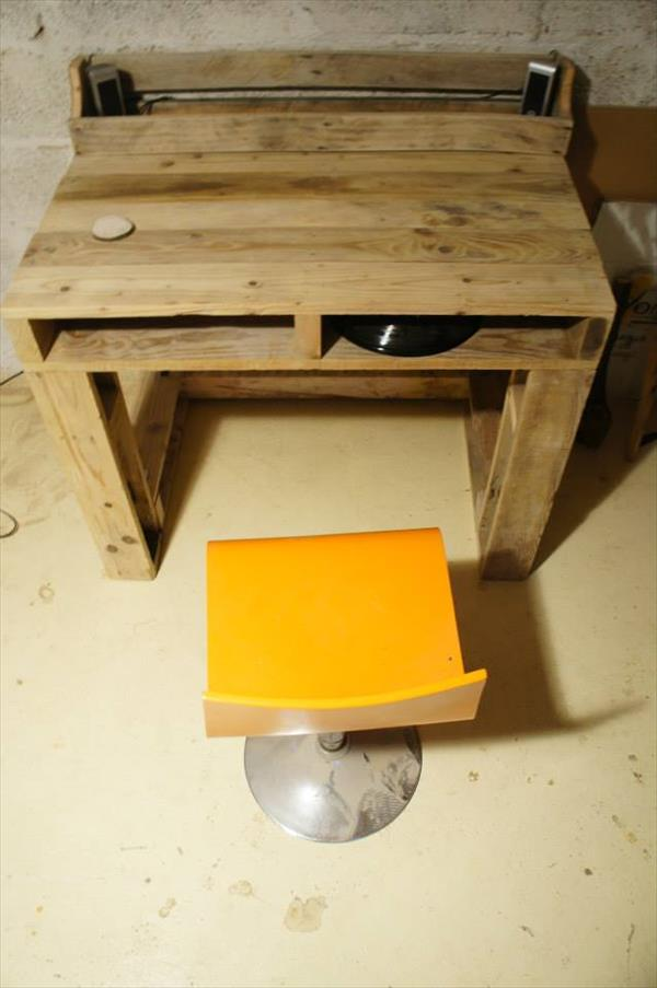 reclaimed pallet computer table