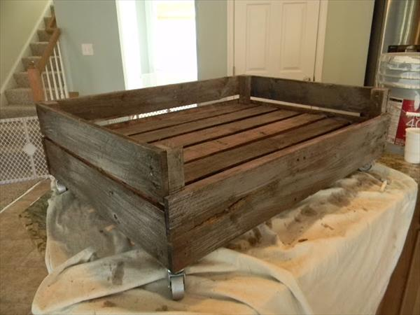 step 3 for dog bed out of pallet