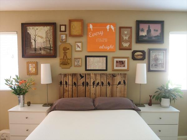 Do It Yourself Furniture: Do It Yourself Pallet Headboard Project