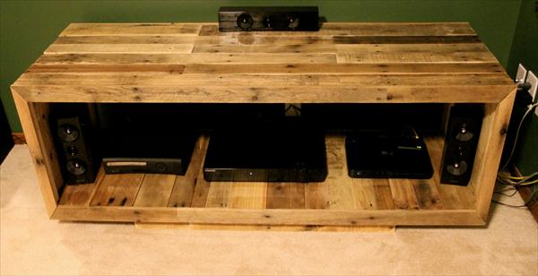 Pallet Wood Entertainment Center  MEGAN ELISE DIY