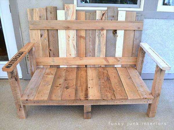 boards attachment for pallet sofa