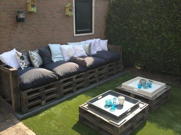 make your own garden furniture. Recycled Pallet Furniture Make Your Own Garden
