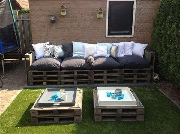 Pallet Patio Couch diy pallet patio furniture | pallet furniture plans