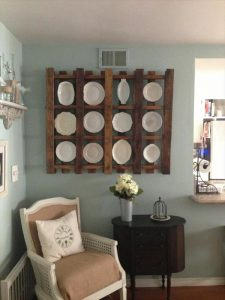 Reclaimed Pallet Plate Shelf Pallet Furniture Plans