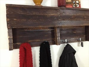 Pallet Shelf Coat Hanger