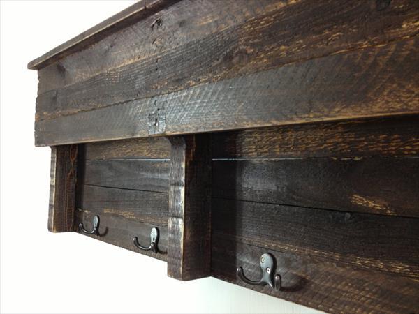 Pallet Shelf Coat Hanger