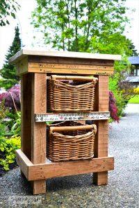 DIY Wooden Pallet Night Stand