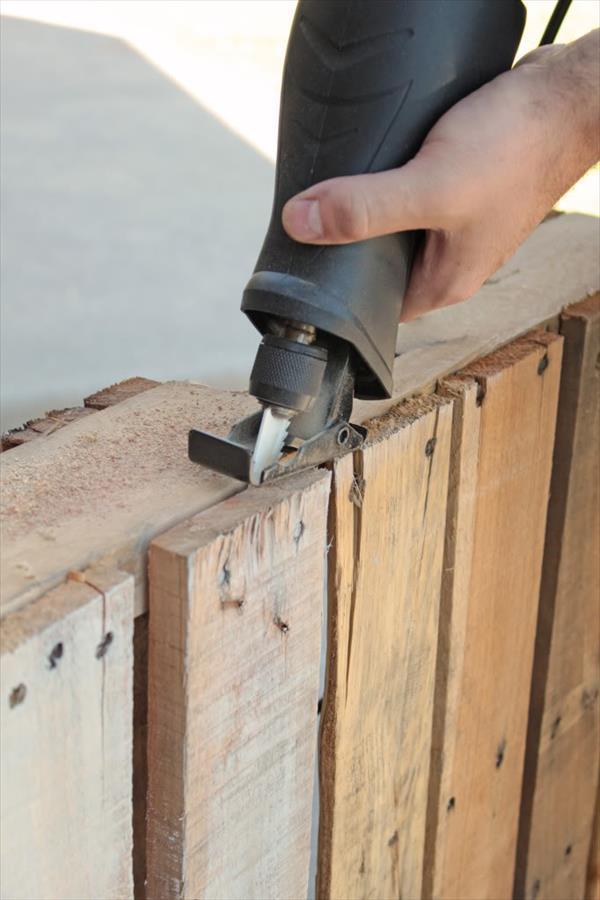 cut pallet wood