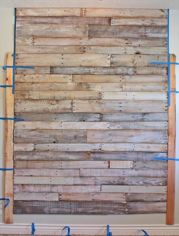 pallet wall headboard