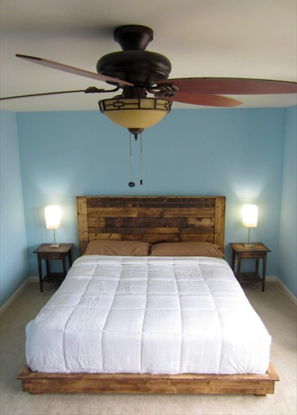 pallet headboard out of pallet