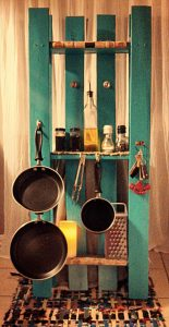 recycled pallet kitchen rack