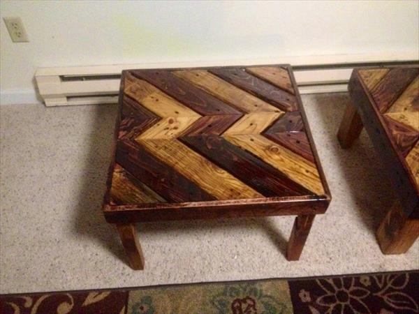 Diy pallet coffee table end table pallet furniture plans for Pallet end table
