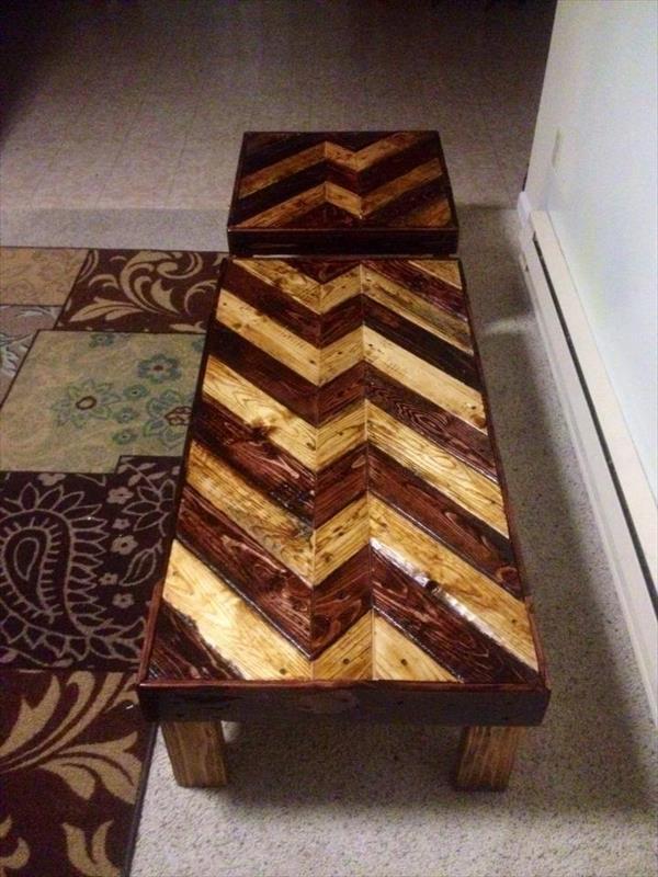 repurposed pallet tables