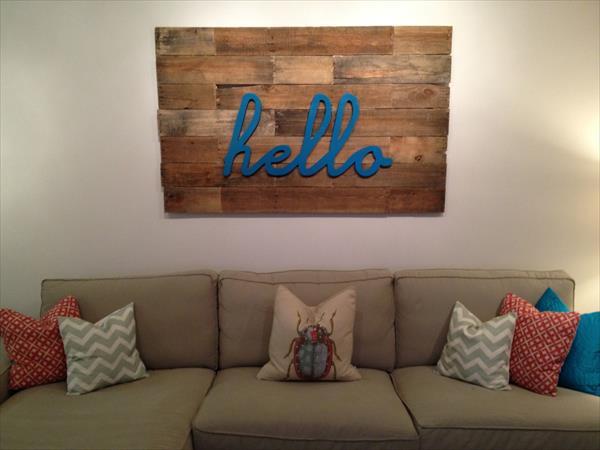 reclaimed pallet wall art
