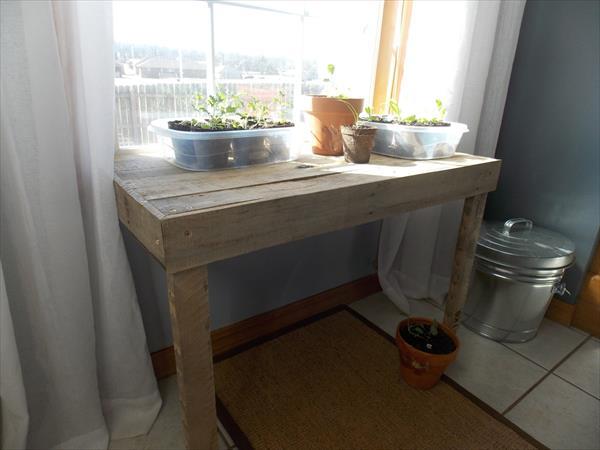 retrieved pallet window table