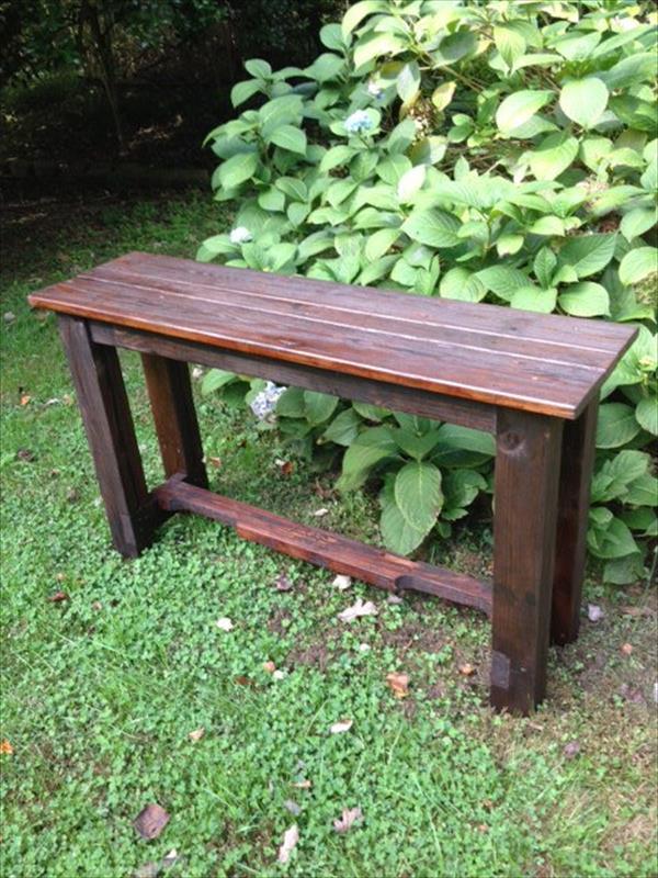 DIY Pallet Sofa Table