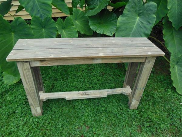 ... console or entryway table diy wooden pallet coffee table project wood
