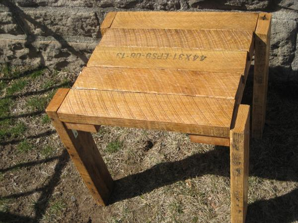 rustic pallet wood table pallet furniture plans