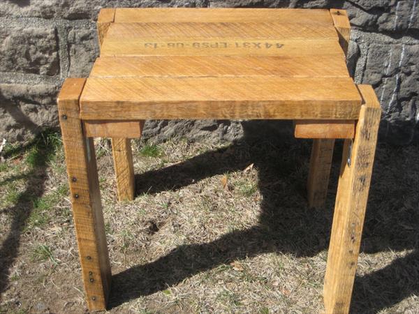 diy pallet wood table
